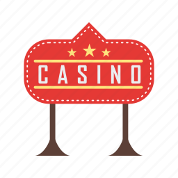 casino, gambling, game, light, red, royale, sign icon