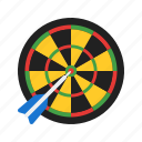 arrow, board, casino, dart, darts, game, target icon