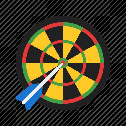 arrow, board, casino, dart, darts, game, target icon