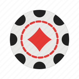 casino, chip, diamond, gambling, luck, poker, win icon