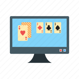 casino, computer, gambling, online, phone, poker, slot icon