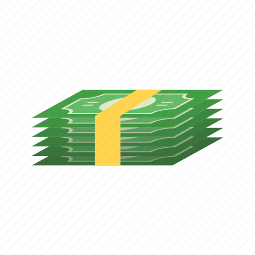 bills, business, cash, gambling, luck, money, pack icon