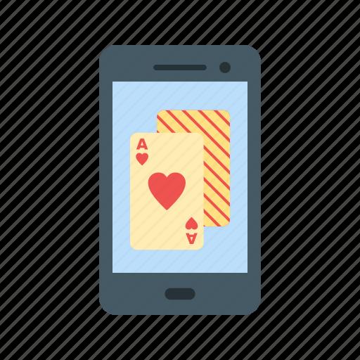casino, gambling, mobile, online, phone, poker, slot icon