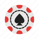card, casino, chips, gambling, poker, roulette, spade icon