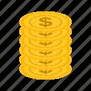 bills, casino, coins, gambling, machine, money, stack