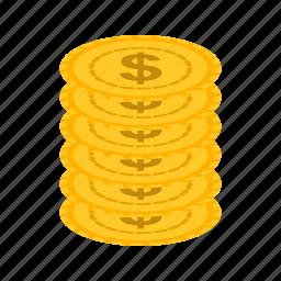 bills, casino, coins, gambling, machine, money, stack icon