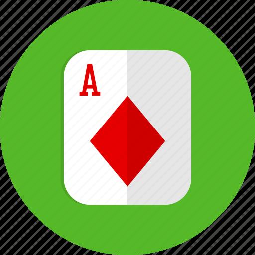 card, casino, diamond, poker, slot icon