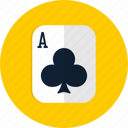 casino, clubs, clubs card, poker, slot icon