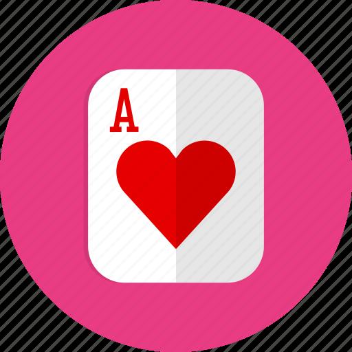 casino, heart, poker, slot icon