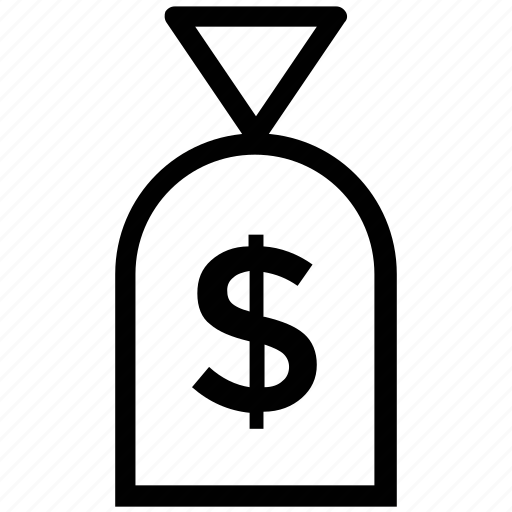 dollar, dollar bag, dollar pouch, dollar sack, money bag, sack icon