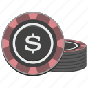 casino, chip, chips, gamble, gambling, money icon