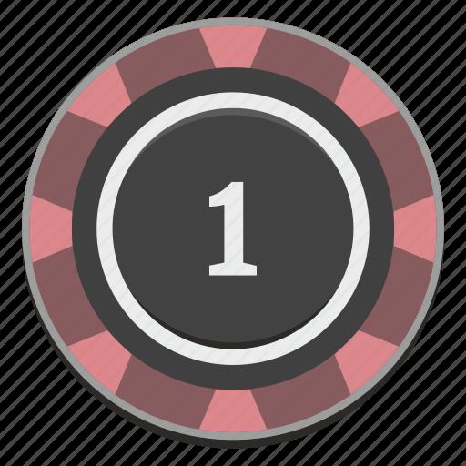 casino, chip, gamble, gambling, game, one icon