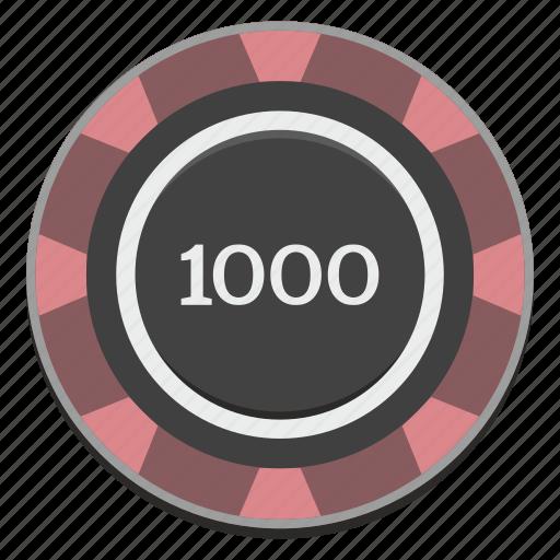 casino, chip, gamble, gambling, game, thousand icon