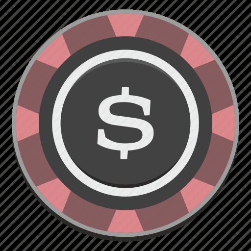 casino, chip, dollar, gamble, gambling, usd icon