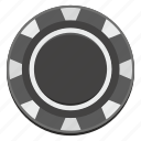 casino, chip, dark, gamble, game, money icon
