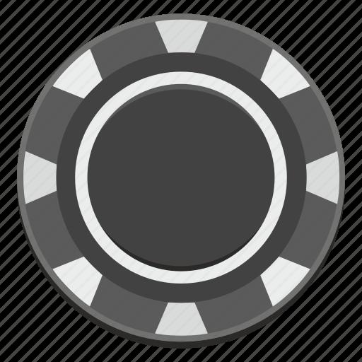 casino, chip, dark, gamble, game, money icon