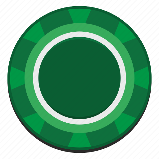 casino, chip, gamble, game, green icon