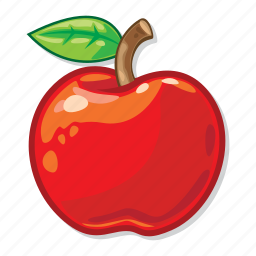 apple, casino, gambling, healthy food icon