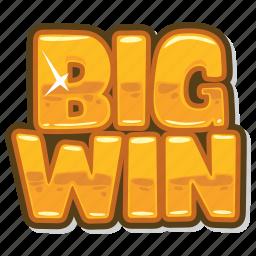big win, casino game, gambling, slot icon