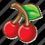 casino game, cherries, gambling, slot icon