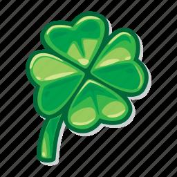 casino game, clover, gambling, lucky, slot icon