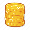 money, coins, gambling, casino icon