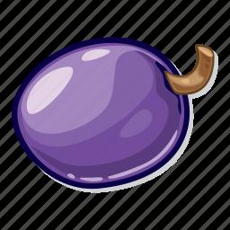 casino game, gambling, plum, slot icon