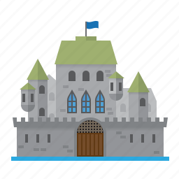 architecture, building, castle, fortress, mansion, medieval, walls icon