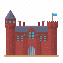 architecture, bricks, building, castle, fortress, mansion, medieval icon