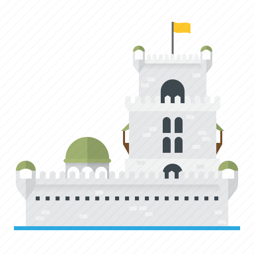architecture, building, castle, fortress, medieval, tower, water icon