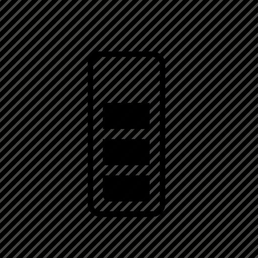 battery, medium, power icon