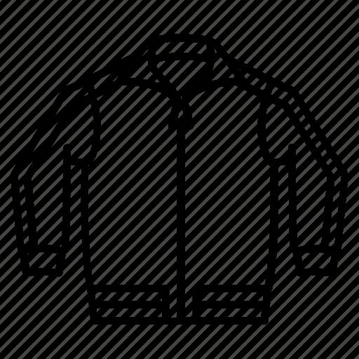 jacket, sport, track, wear, zip icon