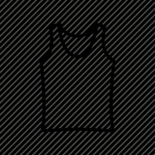 casual, shirt, sleeveless, t-shirt, tank, top, wear icon
