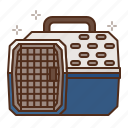 cat, care, travel, carry, carrier, kennel icon