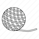 adorable, animal, ball, cat, outline, toy, yarn icon