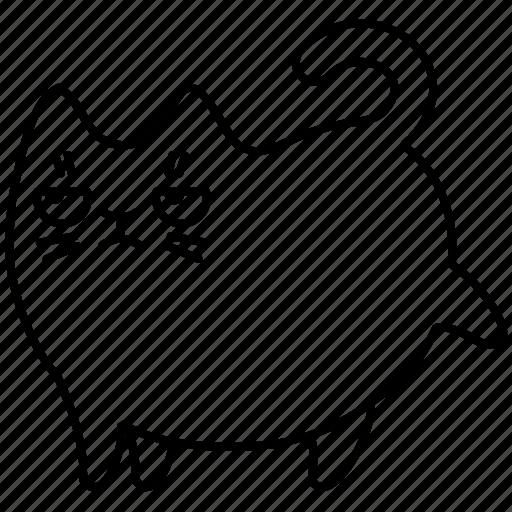 animal, cat, grumpy, pet, remove icon
