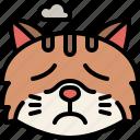 animal, cat, emoji, emotion, feeling, pet, sad