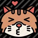animal, cat, emoji, emotion, feeling, kissing, love