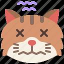 animal, cat, emoji, emotion, fear, feeling, scared
