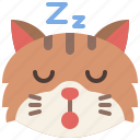 animal, cat, emoji, emotion, feeling, pet, sleeping