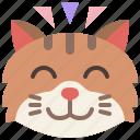 animal, cat, emoji, emotion, feeling, happy, pet
