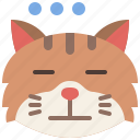 animal, cat, emoji, emotion, expressionless, feeling, pet