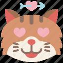 animal, cat, emoji, emotion, feeling, heart, love