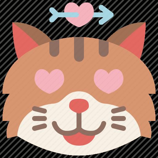 Animal, cat, emoji, emotion, feeling, heart, love icon - Download on Iconfinder
