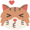 animal, cat, emoji, emotion, feeling, kissing, pet
