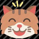 cat, emoji, emotion, feeling, grinning, happy, smile