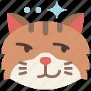 animal, cat, emoji, emotion, feeling, pet, smirking