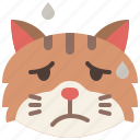 animal, cat, emoji, emotion, feeling, pet, worried