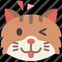 animal, cat, emoji, emotion, feeling, pet, teasing
