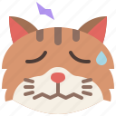 animal, cat, emoji, emotion, feeling, pet, stressed